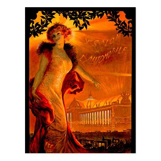 Paris Auto Show 1907 ~ Vintage Automobile Ad Postcard