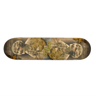 Paris autumn leaves vintage 1920 great gatsby Girl Skateboard