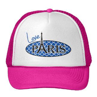 París; Azul de cobalto Quatrefoil Gorras