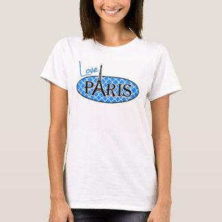 Paris; Azure Blue Quatrefoil T-Shirt