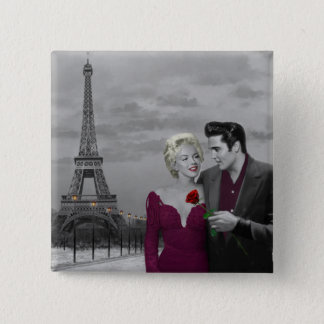Paris B&W 2 Pinback Button
