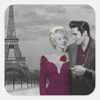 Paris B&W Square Sticker