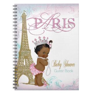 Paris Baby Shower Guest Book Notebook