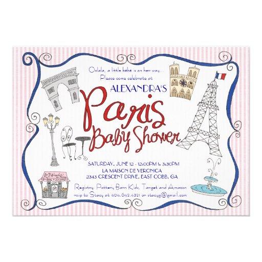 paris baby shower invitation 5 x 7 invitation card zazzle