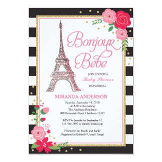 Delightful Paris Baby Shower Invitation / Paris Invitation