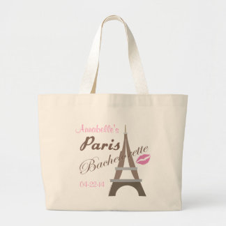 Paris Bachelorette Party Gear Jumbo Tote Bag