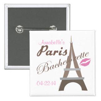 Paris Bachelorette Party Gear 2 Inch Square Button