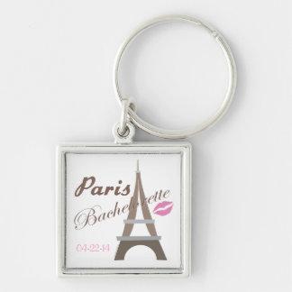 Paris Bachelorette Party Gear Keychain