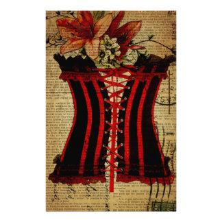 Paris Bachelorette Party vintage corset Stationery