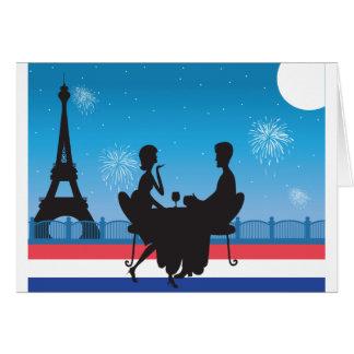 Paris Background Greeting Card