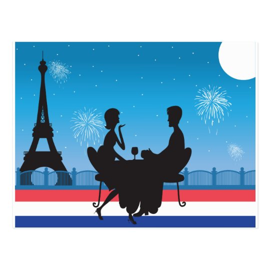 Paris Background Postcard