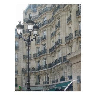 Paris balconies postcard