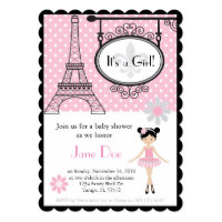 Paris Ballerina Invitation for Shower/Birthday