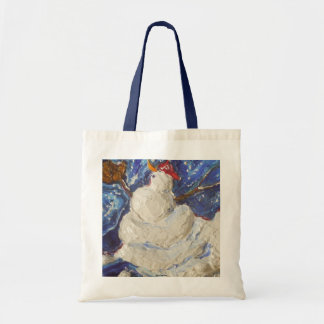 Paris' Baseball Snowman Tote Bag