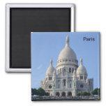 Paris - Basilica of the Sacr�-Heart - 2 Inch Square Magnet