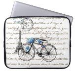 Paris Bicycle Forgetmenot Laptop Sleeve