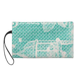 Paris--Bird Cage-Turquoise-Cosmetic_Travel_Bag' Wristlet