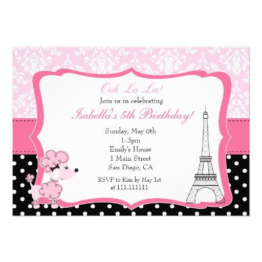 Paris Birthday Invitation
