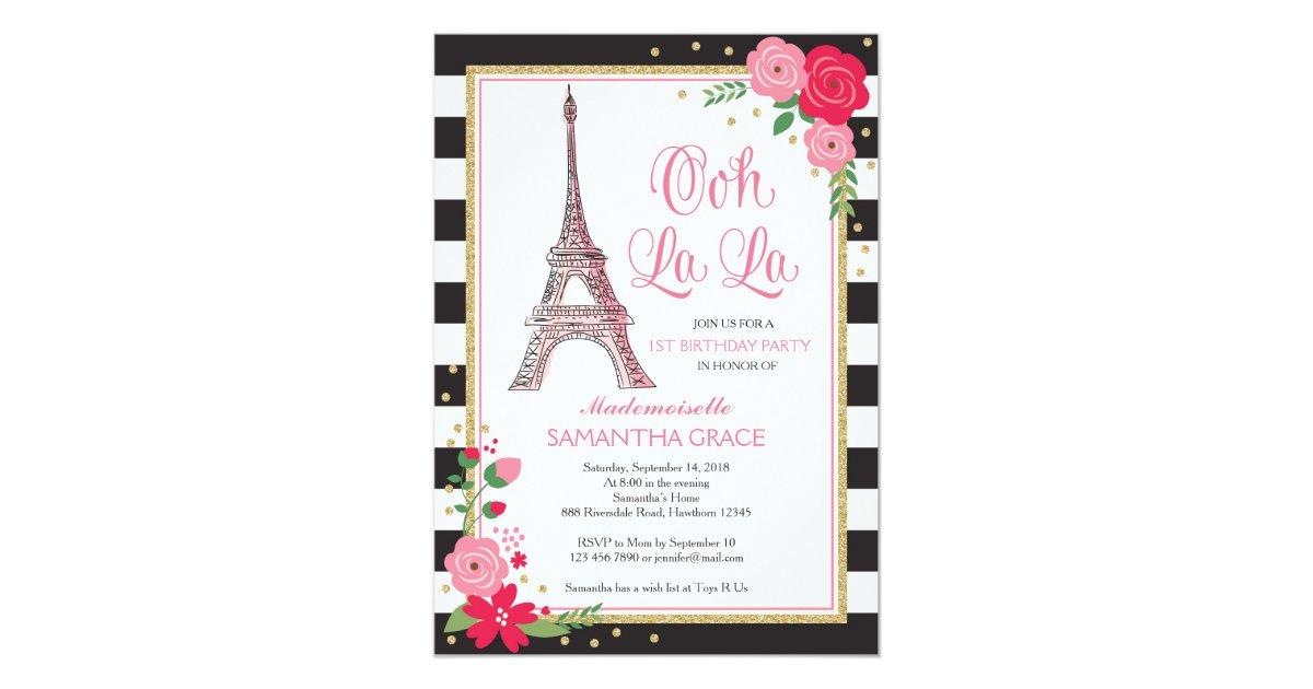 Paris Invitations & Announcements | Zazzle
