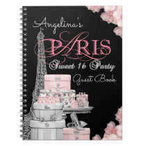 Paris Birthday Party Guest Book