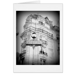 Paris, Black and White, Blank Card