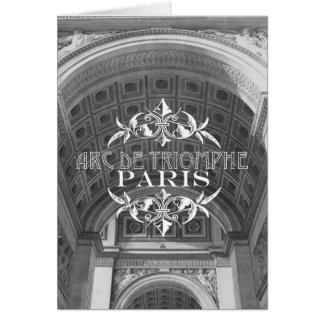 Paris Black and White Travel Notecard Arc Triomphe Stationery Note Card