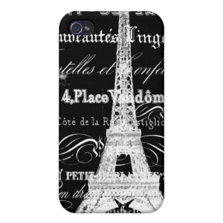 Paris Black iPhone 4 Cover