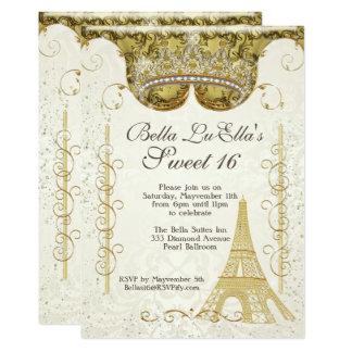 Paris Bling Birthday Party Invitations