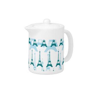 Paris Blues Teapot at Zazzle