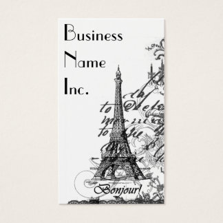 Paris Bonjour Collage Business Cards
