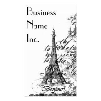Paris Bonjour Collage Business Cards