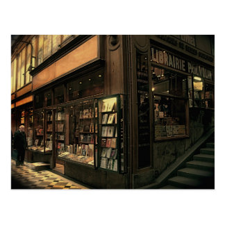 Paris Bookshop Postcard