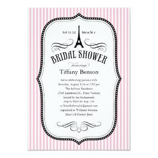 "Paris Bridal Shower Invitations 5"" X 7"" Invitation Card"