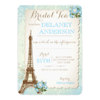 Paris Bridal Shower Tea Party Invitation