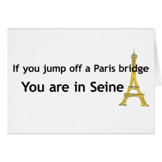 Paris Bridge Greeting Card