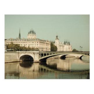 Paris, bridges of love post cards