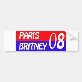 paris britney car bumper sticker