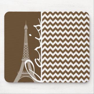 París; Brown Chevron Tapete De Ratón