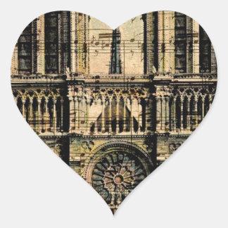 Paris Building Heart Sticker