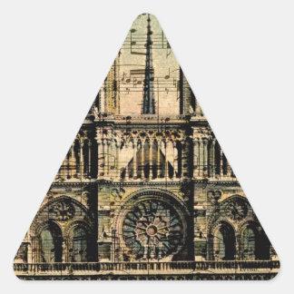 Paris Building Triangle Sticker