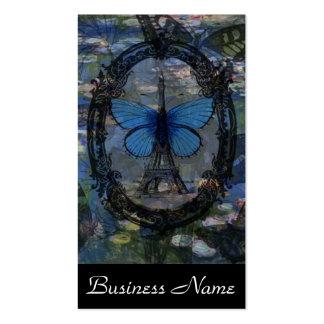 Paris Butterflies Art Collage Business Cards