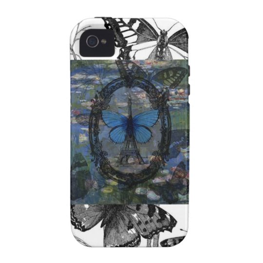 Paris Butterflies Art Collage Case