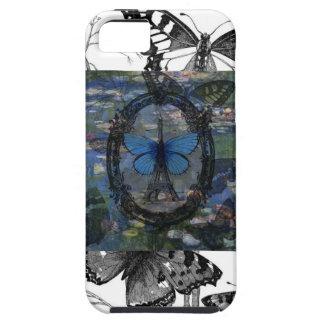 Paris Butterflies Art Collage Case iPhone 5 Covers