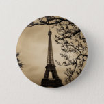 "Paris Button<br><div class=""desc"">Antique style picture of the Eiffel Tower in Paris,  France</div>"