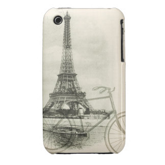 Paris by Bicycle Mixed Media iPhone 3 Cover