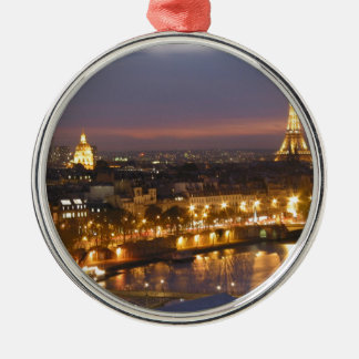 Paris by Night Metal Ornament