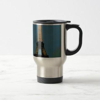 Paris by night, Tour Eiffel, 15 Oz Stainless Steel Travel Mug
