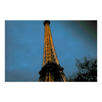 Paris by night, Tour Eiffel Poster