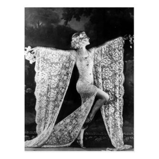 Paris Cabaret Dancer Postcard
