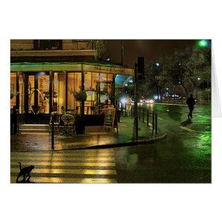 Paris Cafe at Night Card